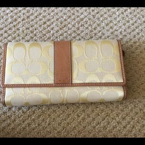 New Coach yellow wallet